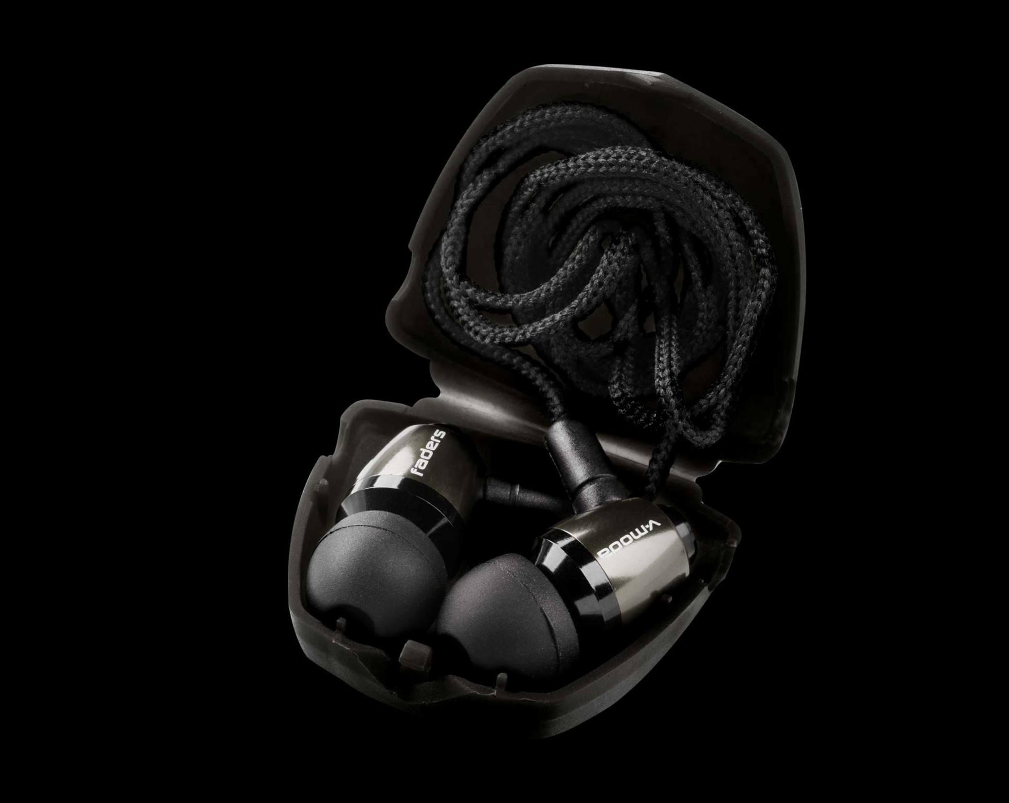 Black Faders Earplugs in their case