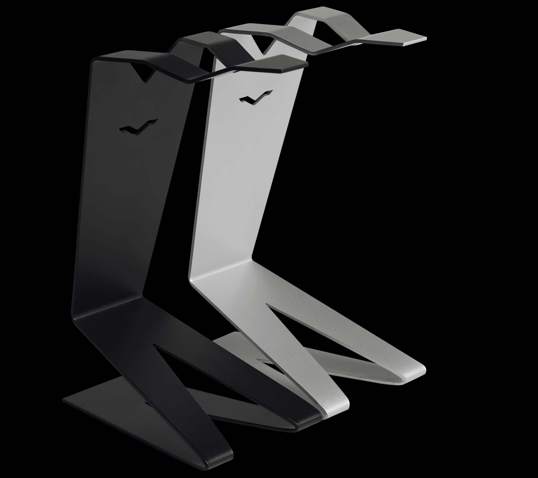 V-MAN Object Holder in Black and Steel