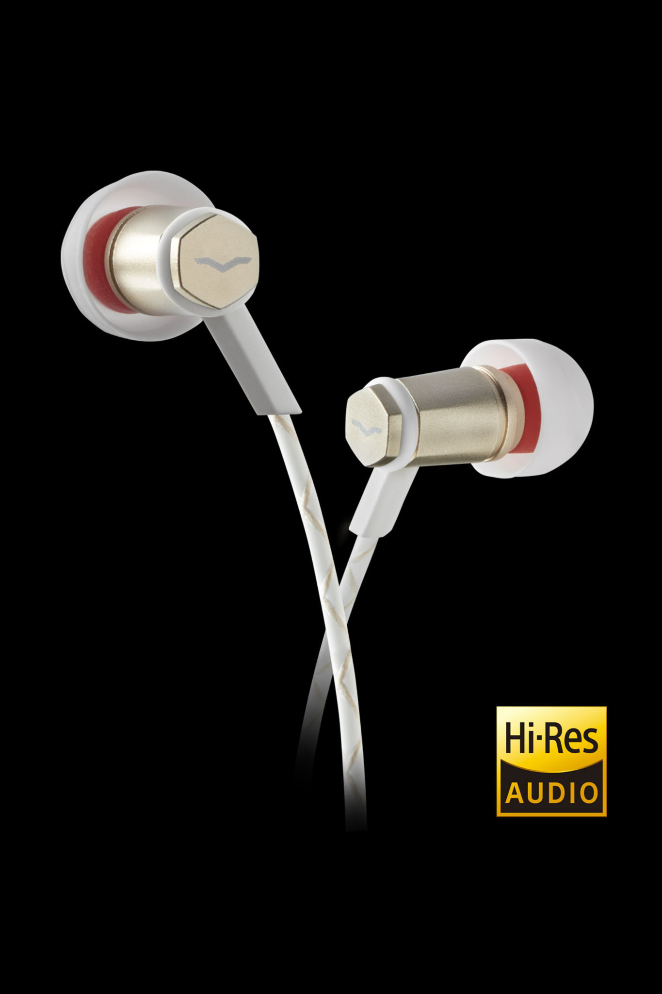 White Forza Metallo In-Ear Headphones with Hi-Res Audio certification