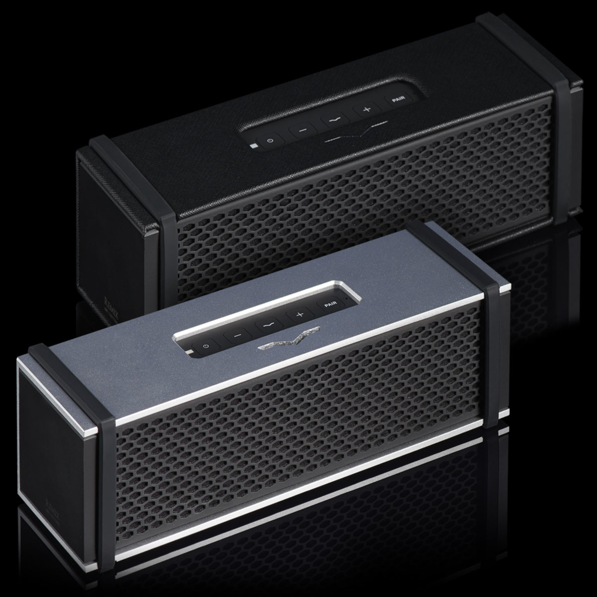 Remix Bluetooth HiFi Speakers in Black and Silver