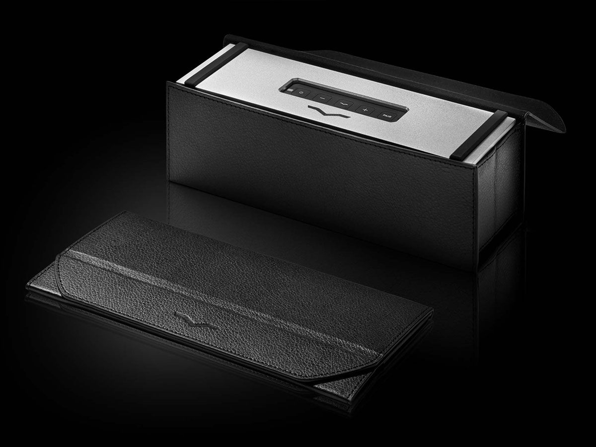 REMIX Bluetooth Speaker in Leather Carry Case